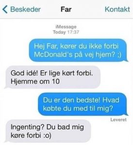 Kørt forbi mcd - Far jokes
